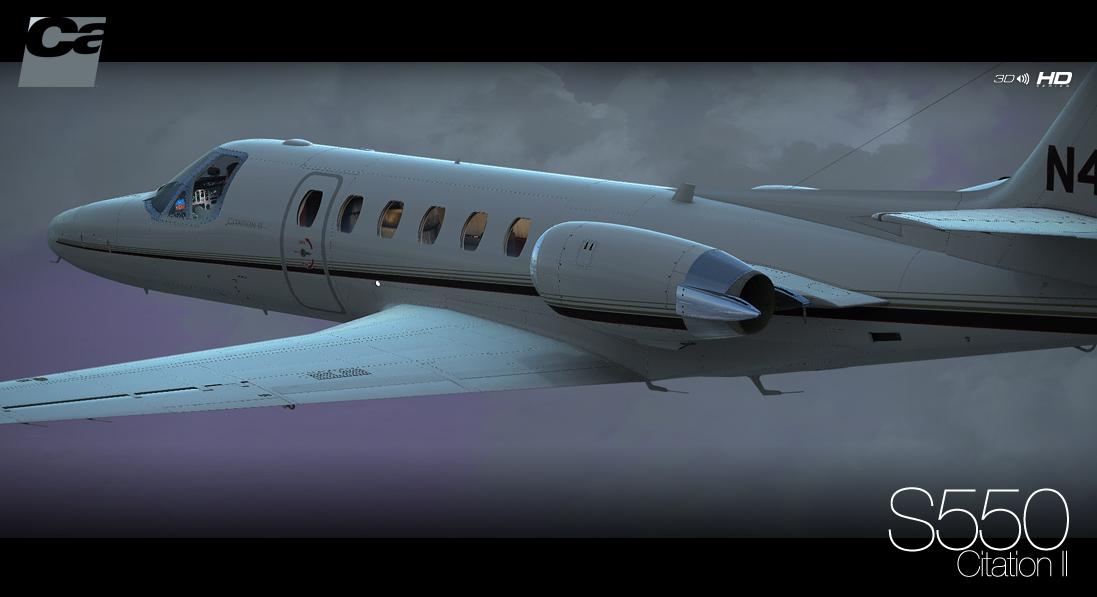 Carenado Citation II S550 HD SERIES [FSX] - Ariel Creation